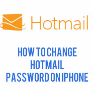 1 - 833 - 490 - 0999 how to change hotmail password on iphone